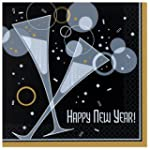 20 Bubbly New Year Paper Party Napkins