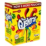 Betty Crocker Fruit Gushers Snack Pouch,0.9 Oz pouches, 36 Count