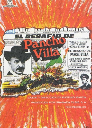 Pancho Villa Movie Poster Starring Telly Savalas and Clint Walker