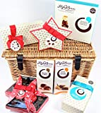 Lily O'Briens Luxury Mother's Day Chocolate Lovers Wicker Basket 16 inch Hamper Containing 8 Boxes of Chocolates