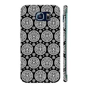 Enthopia Designer Hardshell Case Black Woodo Back Cover for Samsung Galaxy S7 Edge
