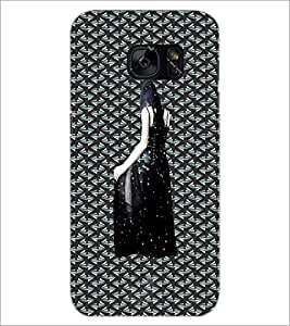 PrintDhaba Black Angel D-5642 Back Case Cover for SAMSUNG GALAXY S7 (Multi-Coloured)