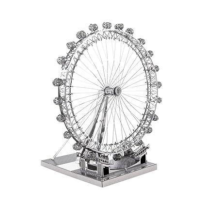 London Eye: Métal Terre iconx Cut laser 3D Model Kit de 2 feuilles miniature