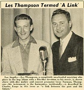 1952 Print Les Thompson Harmonica Musician Gene Norman - Original Halftone Print