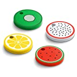 Chipolo Classic Fruit Edition 4-Pack - Bluetooth Key Finder and Mobile Phone Finder with Replaceable Battery (Color: Fruit Edition)