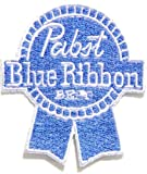 Pabst Blue Ribbon Beer Logo Sew Iron on Embroidered