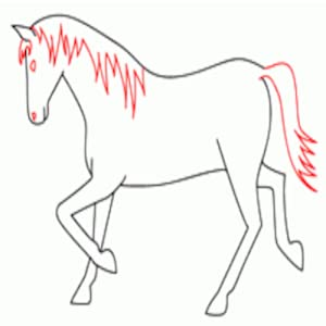how to draw a horse app