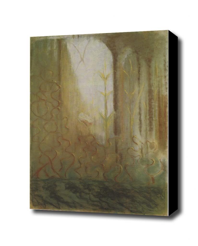 Mikalojus Konstantinas Ciurlionis THE WORLD OF MARS 1904 5 Varsuva Canvas Art Print, with 1.5 inch Deep Frame BLACK edge; 12 X 16 mini iq cube keychain