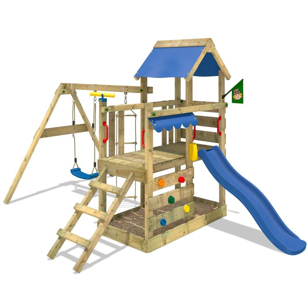 WICKEY TurboFlyer Spielturm Kletterturm Schaukel Rutsche Podesthöhe 90cm