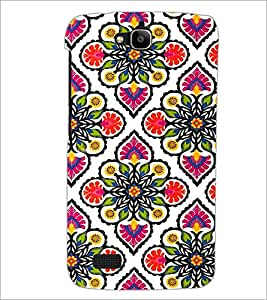 PrintDhaba Floral Design D-2045 Back Case Cover for HUAWEI HONOR HOLLY (Multi-Coloured)