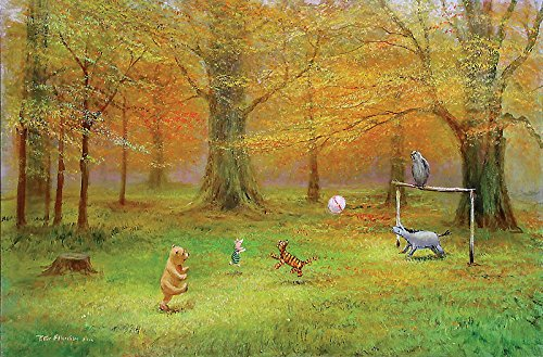 Winnie the Pooh Pooh Soccer Peter Ellenshaw LE 395 24x36 Canvas Signed NEW Giclee Disney (Pooh Football compare prices)