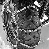 ATV Tire Chains 9 VBAR Snow Ice Mud Off Road for 24-26 Tires 54x14.5 Titan