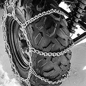 atv tire chains 8vbar snow ice mud off road for 20 x10 22 x11 tires 52x14. Black Bedroom Furniture Sets. Home Design Ideas