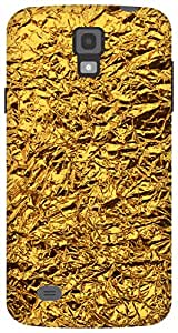 The Racoon Lean shiny foil gold hard plastic printed back case / cover for Samsung Galaxy S4 Active