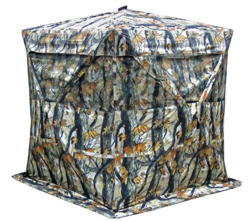 KillZone 360 Hub Style Ground Blind Deer and Turkey Hunting Blind with Open Woods Camo 7U