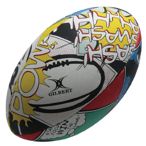 Gilbert Men's Random Rugby Ball - Focus, Size 5