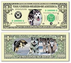 Pack of 25 - Siberian Husky Dog Million Dollar Bills by The Department of the Novelty [並行輸入品]