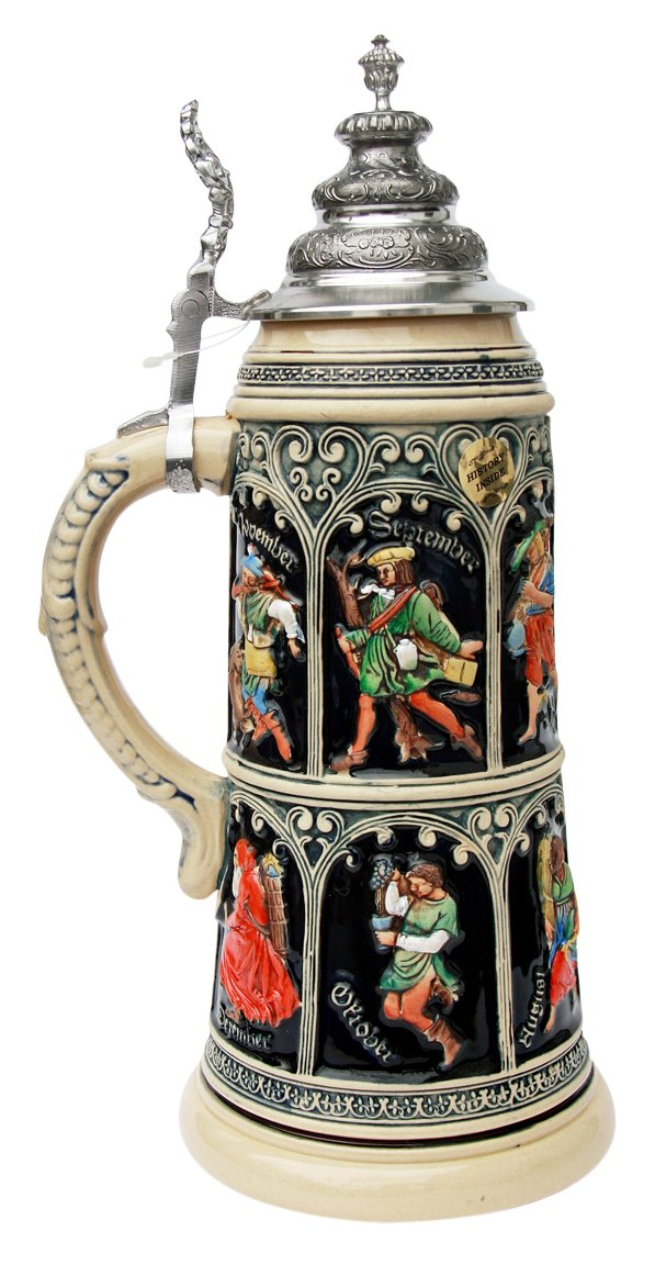 King Collectors Edition Limitaet 2015 German Beer Stein Medieval Calendar 2.0 Liter Limited Edition 2,500 виниловая пластинка phil collins take a look at me now collectors edition