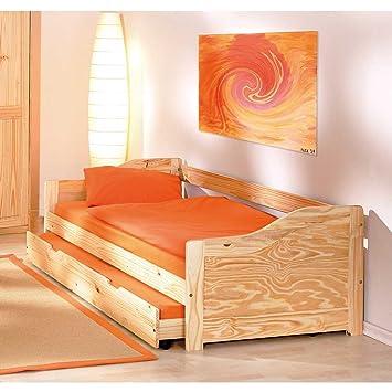 Massivholz-Bett Classico mit Gästebett (2-teilig) Pharao24