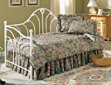 Leggett & Platt Fashion Bed Group Emma Antique Day Bed Frame without Link Spring, Twin, White