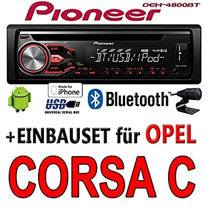 Opel corsa c, gris foncé-pioneer dEH - 4800BT-cD/mP3/uSB kit