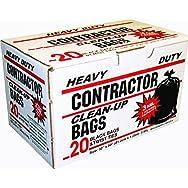 Black Contractor Trash Bag-20CT CONTRACTOR BAGS