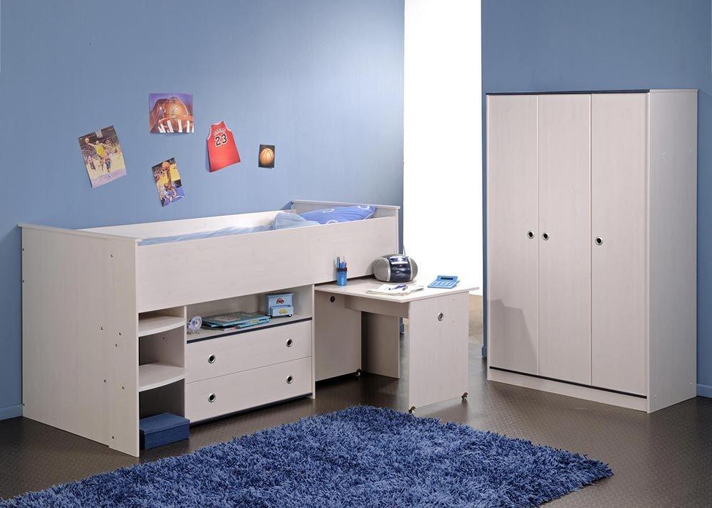 Jumbo-Möbel Kinderzimmer Set SMOOZY 2 in Weiß & Pink oder Blau, Komplettset online kaufen