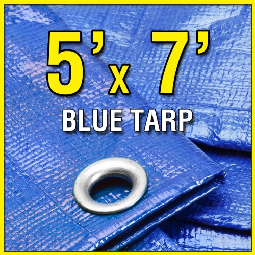 5' X 7' Blue Multi-Purpose 6-mil Waterproof Poly
