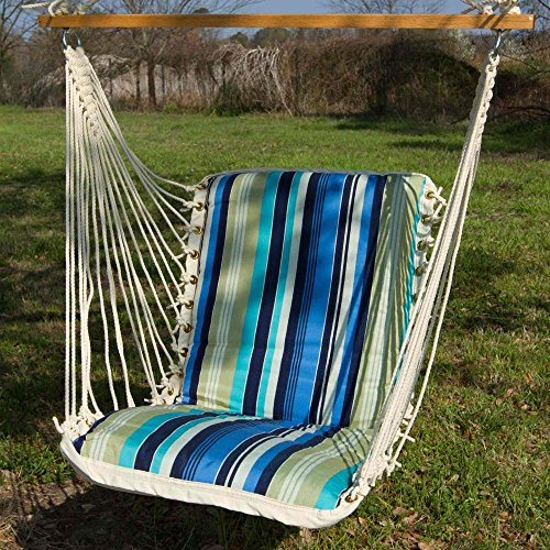 Pawley's Island SBE02 Cushioned Single Swing, Beaches Stripe
