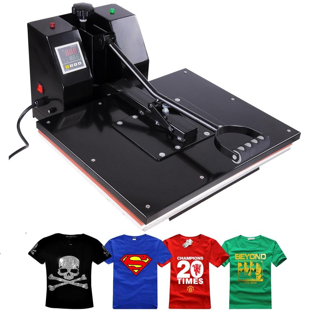 Yescom 16x20 Large Non-Stick Surface Heat Press Machine Digital Transfer Sublimation Machine for Clamshell T-Shirt