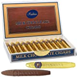 Chocolate Cigars Gift Box - Madelaine Premium Milk Chocolate Cigars Wrapped In Gold Italian Foil - 24 Cigars (Color: Gold, Tamaño: 1 Pack)