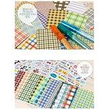 20 PCS Fabric Pattern Instax Films Sticker For FujiFilm Instax Mini 8 7S 25 50S