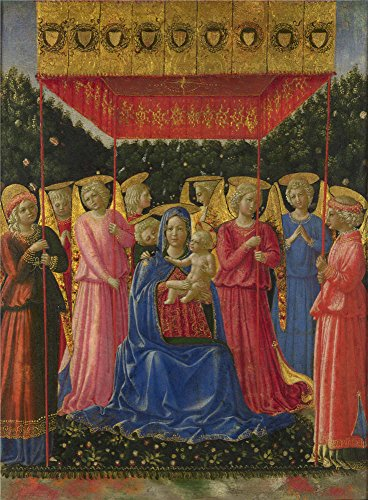 Oil painting 39 benozzo gozzoli the virgin and child with for Foyer meaning in english
