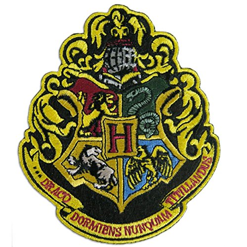 Harry Potter The 4 Houses of Hogwarts Crest Patch 4 3/4