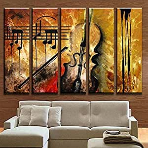 Hand Painted Music Paintings For Living Room
