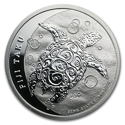 2013 Fj 1/2 Oz Silver New Zealand Mint $1 Fiji Taku .999 Dollar Uncirculated Us Mint