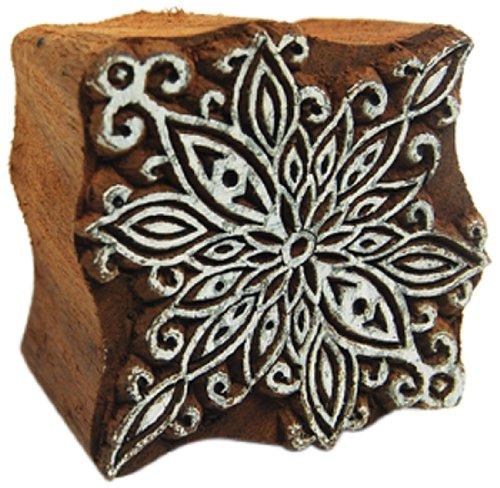 International Arrivals Blockwallah Wooden Stamp, Poinsettia Flower