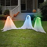 Light Up Color Changing Ghostly Group Haunt Your Yard Halloween Decor Spooky from CloseoutZone