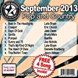 All Star Karaoke September 2013 Pop and Country Hits A (ASK-1309A)