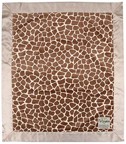 "My Blankee Giraffe Minky Baby Blanket, 14"" X 17"", Caramel"