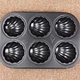 Non Stick Metal Shell Shape Cake Mold & Baking Pan Cookie Candy Mold (6 Cavity )