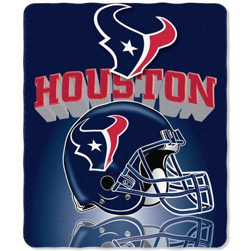 "Houston Texans NFL Light Weight Fleece Blanket (Grid Iron) (50""x60"")"