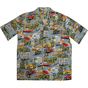 Vintage Route 66 Men's Hawaiian Shirt – Made in Hawaii USA