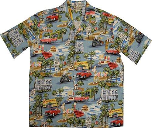 Vintage Route 66 Men's Hawaiian Shirt – Made in Hawaii USA 0