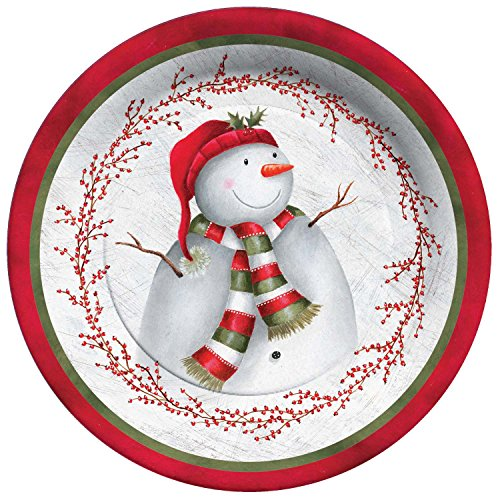 C R Gibson Winter Berry Snowman Holiday Paper Goods