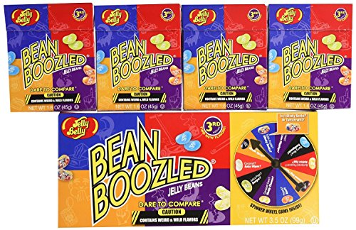 2 Jelly Belly Bean Boozled Spinners and 8 (1.6 ounce) Refill Boxes, (Crazy Jelly Beans compare prices)