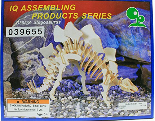 IQ Assembling Products Series Balsa Wood 3D Puzzle Stegosaurus - 1