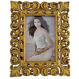 Gift Garden 4x6 Picture Frame Gold Ornate Photo Frame