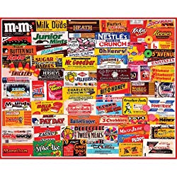 "Candy Wrappers Favorites Collage 1000 piece jigsaw puzzle 24"" x 30"""