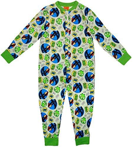 Jungen Angry Birds Katapult Aim Fire Druckknopf Schlafanzug Strampler größen von 4 bis 10 Jahren - Jungen, grau, 122-128